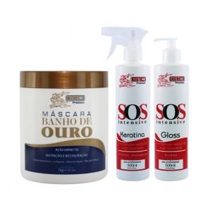 KIT BANHO DE OURO + TRATAMENTO SOS G10