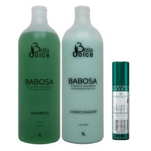 Kit Shampoo e Condicionador Babosa Bella Dolce 2x1L + LastPower pH Repair NanoProtein 300ml