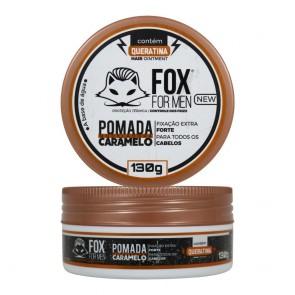 POMADA MODELADORA CARAMELO COM QUERATINA 130GR FOX FOR MEN