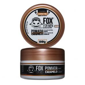 POMADA MODELADORA CARAMELO COM QUERATINA 80GR FOX FOR MEN